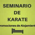 SEMINARIO DE KARATE. Enterate las promociones en alojamiento