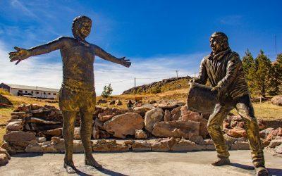 """Inauguración Mirador """"El Morro"""", Reinauguración Baño 9 y Esculturas en homenaje a los primeros bañeros termales de Copahue"""