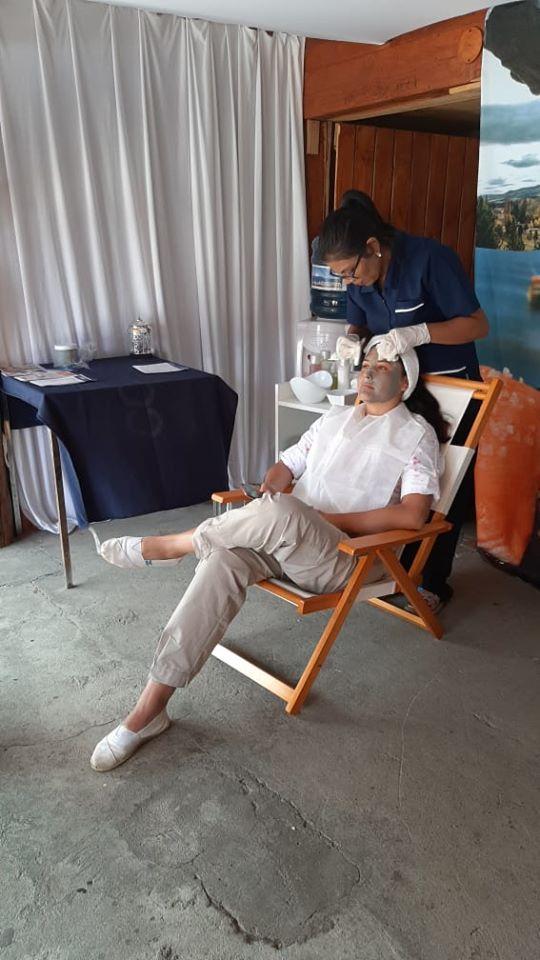 máscara facial termas de copahue en expo rural junin de los andes